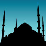 Mosque. Vector illustration of a mosque Stock Photo