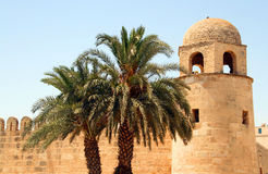 Mosque. In Sousse old town - famous Tunisian landmark Stock Photo