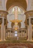 阿布扎比:惊人的回教族长扎耶德Mosque 库存照片