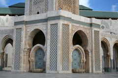 Mosque. Of Hassan II in Casablanca (Morocco Royalty Free Stock Images
