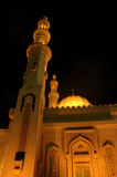 Mosque. Where muslems pray (taking at night whith a buteful lighting Royalty Free Stock Photos