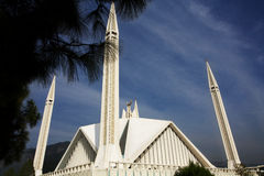 Mosque. Side view of monstrous Faisal Mosque in Islamabad, Pakistan stock photos