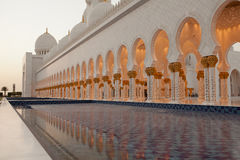 The mosque. Reflection of Sheikh Zayed Grand Mosque in Abu Dhabi, UAE Stock Photo