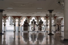 Mosque. An interior architecture of a mosque Royalty Free Stock Photos