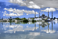 Mosque. A photo of mosque with reflection on a lake stock photography