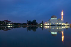 Mosque. With reflection on a lake royalty free stock images