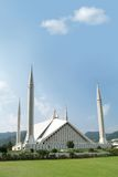 Mosque. Muslim's Worship Place. Shah Faisal Mosque in Islamabad City of Pakistan Royalty Free Stock Photo