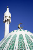 Mosque. Minaret & dome mosque  in kuwait Royalty Free Stock Photo