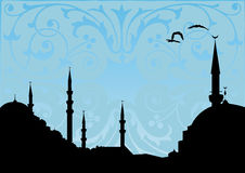 Mosque. Vector illustration of a mosque silhouette Stock Image
