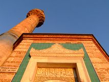 Mosque. Is muslim's temple. This  is famous old  on izmir  in turkey Royalty Free Stock Image