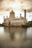 Mosque. Brunei National Mosque and reflection over the water royalty free stock photo