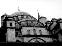 Mosque. Istambul mosque b/w royalty free stock photos