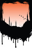 Mosque. Ink illustration of a mosque Stock Image