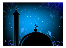 Mosque. Vector graphics created in ilustrator. people can use it reliogious purpose Royalty Free Stock Photos