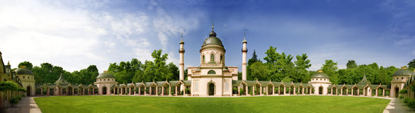 Mosque. In Schwetzingen Castle  in German  / Baden-Wuerttemberg. Panorama Royalty Free Stock Photos
