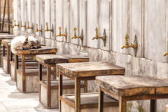 Mosque ablution taps. Image of mosque ablution taps. Istanbul, Turkey Royalty Free Stock Photo