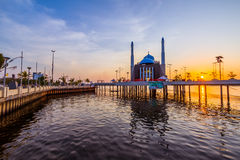 Mosque Above the Water Stock Photography
