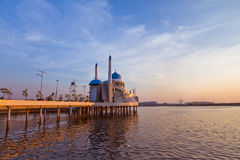 Mosque Above the Water Royalty Free Stock Image