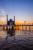 Mosque Above the Water Royalty Free Stock Photography