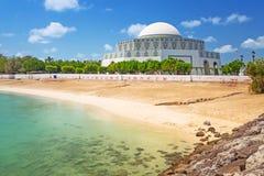 Mosque in Abu Dhabi Marina. United Arab Emirates Royalty Free Stock Image