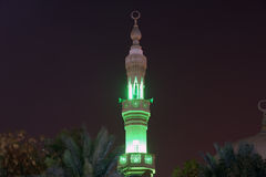 Mosque in Abu Dhabi at night, United Arab Emirates Royalty Free Stock Image