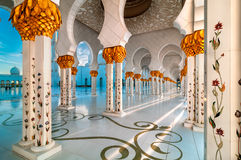 Mosque, Abu Dhabi, United Arab Emirates. Amazing view at Mosque, Abu Dhabi, United Arab Emirates stock images
