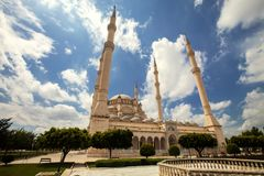 Mosque in Adana, Turkey. Exterior of Sabanci Central Mosque in Adana, Turkey Stock Images