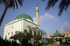 Mosque in akko israel. Green roof mosque in akko israel Stock Images