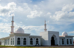 Mosque. Al-abyad mosque located in matang jaya sarawak Stock Photo