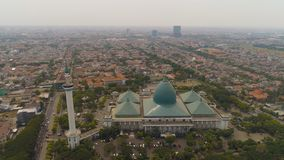 Mosque Al Akbar in Surabaya Indonesia. Aerial view mosque in Indonesia Al Akbar in Surabaya, Indonesia. beautiful mosque with minarets on island Java Indonesia stock images