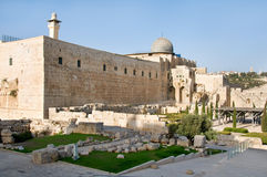 Mosque Al-Aqsa. A view of Mosque Al-Aqsa in Jerusalem Stock Photos