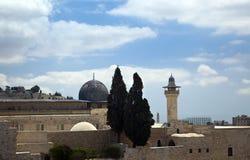 Al-Aqsa Mosque. The mosque of Al-Aqsa in the old city of Jerusalem Stock Image