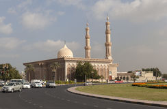 Mosque Al Emam Ahmad Bin Hanbal. Central Square. Sharjah. UAE. royalty free stock image