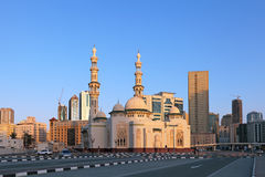 Mosque. Al Huda Mosque during sunset, Sharjah city, United Arab Emirates (UAE Royalty Free Stock Image