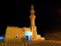 Mosque in Al Mughsayl. At night , Dhofar region, Oman Royalty Free Stock Photo