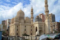 Mosque in Alexandria in Egypt Royalty Free Stock Image