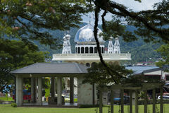 Mosque in Ambon City, Indonesia. A mosque across the street from the War Memorial in the heart of Ambon City, Indonesia royalty free stock photos