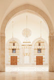 Mosque in Amman, Jordan. King Hussein Bin Talal mosque interior in Amman, Jordan stock images
