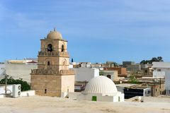 Mosque at the Amphitheatre of El Jem, Tunisia stock photography
