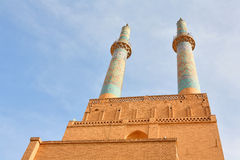 Mosque in ancient city of Yazd, Iran Royalty Free Stock Photos