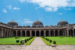 Mandu Jami Mosque. Ancient Jami Mosque Jami Masjid at Mandav Mandu , District Dhar , Madhya Pradesh. This Mosque was one of the biggest Mosque of Central India royalty free stock images