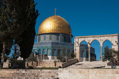 Temple mount in Jerusalem Royalty Free Stock Image