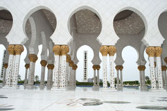Mosque arches. Grand mosque in Abu Dhabi Stock Photography