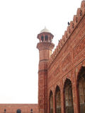 Mosque Architecture. Badshahi Mosque in Lahore, Amazing architecture of Mughal period stock image