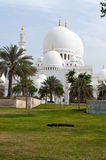 Mosque architecture in Emirates. Grand mosque in Abu Dhabi Stock Image