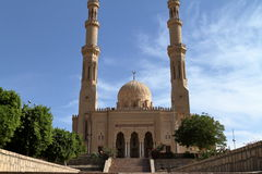 Mosque of Aswan in Egypt Royalty Free Stock Photography