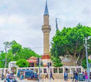 The mosque in Ataturk avenue Royalty Free Stock Photography