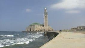 Mosque on the Atlantic coast. stock video