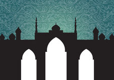 Mosque background stock images