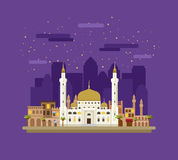 Mosque on the background of the city Stock Images